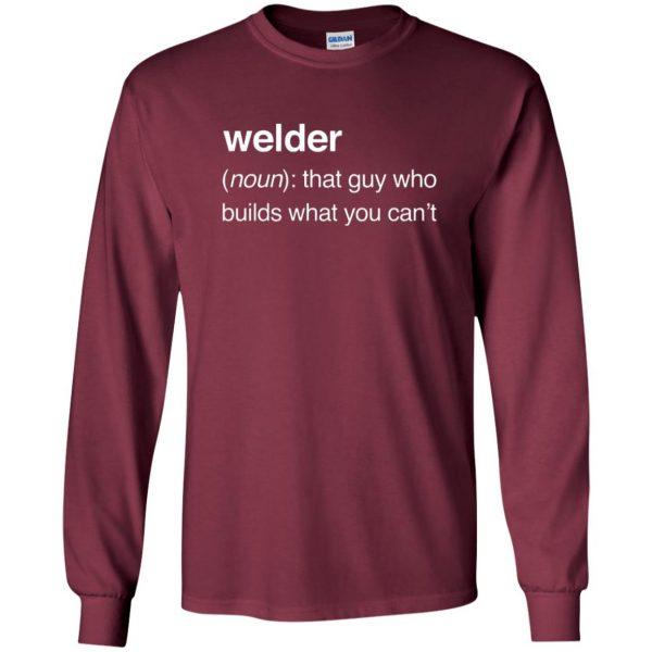 Funny Welder Definition long sleeve - maroon