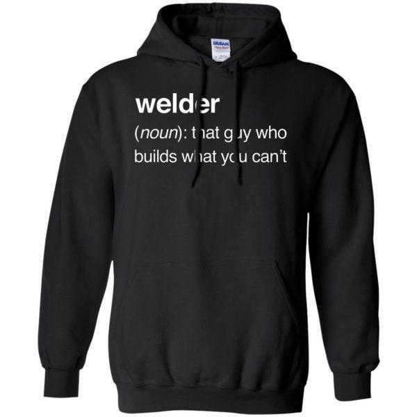 Funny Welder Definition hoodie - black