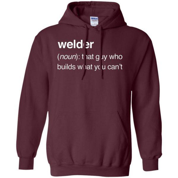 Funny Welder Definition hoodie - maroon
