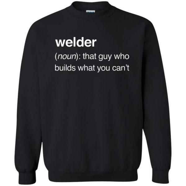 Funny Welder Definition sweatshirt - black