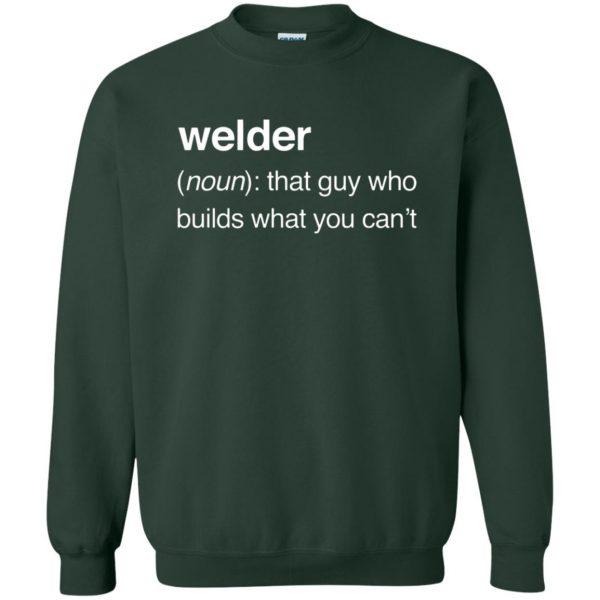 Funny Welder Definition sweatshirt - forest green