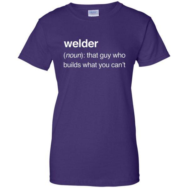 Funny Welder Definition womens t shirt - lady t shirt - purple