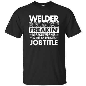 WELDER Funny Job title T-shirt - black