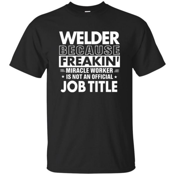 WELDER Funny Job title T-shirt - black
