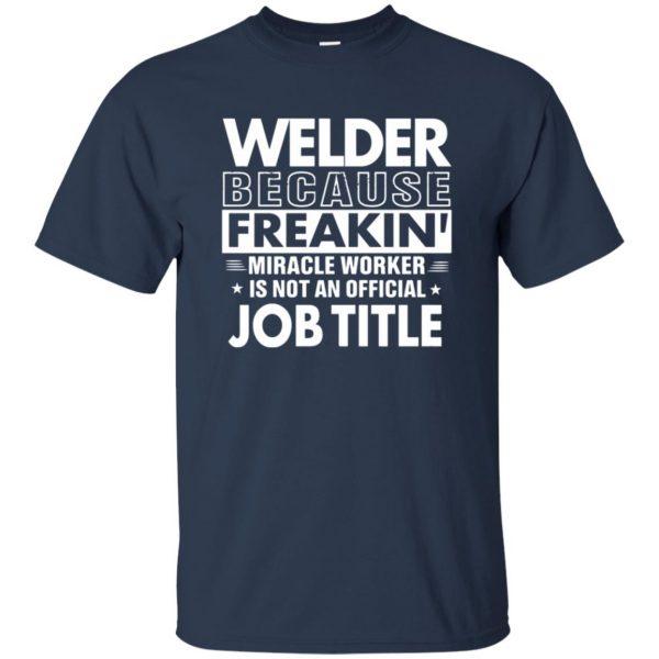 WELDER Funny Job title t shirt - navy blue