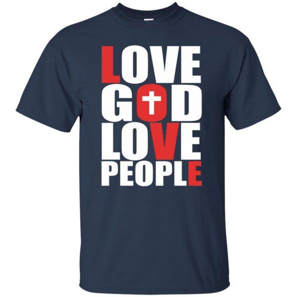 love god love people t shirt - navy blue