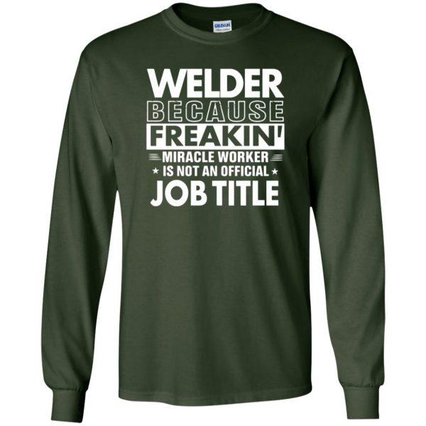WELDER Funny Job title long sleeve - forest green