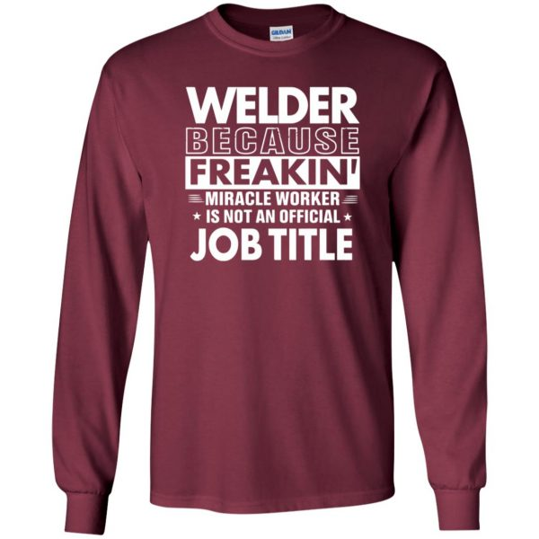 WELDER Funny Job title long sleeve - maroon