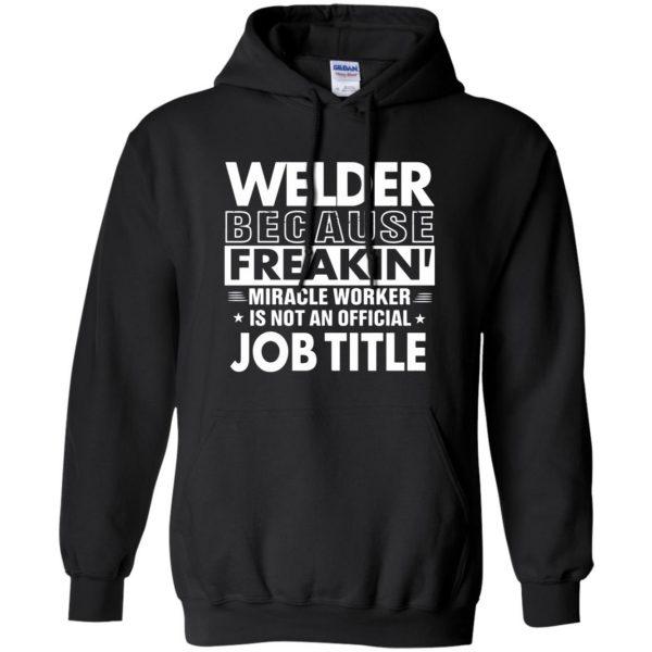 WELDER Funny Job title hoodie - black