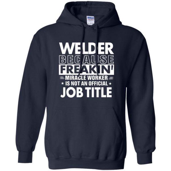 WELDER Funny Job title hoodie - navy blue