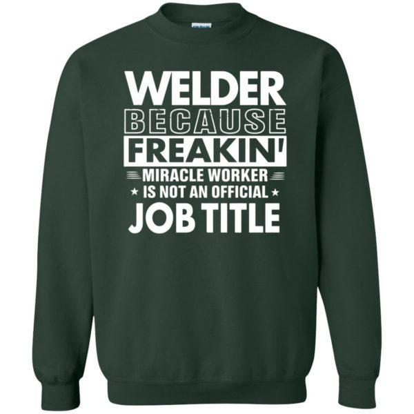 WELDER Funny Job title sweatshirt - forest green