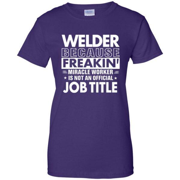 WELDER Funny Job title womens t shirt - lady t shirt - purple