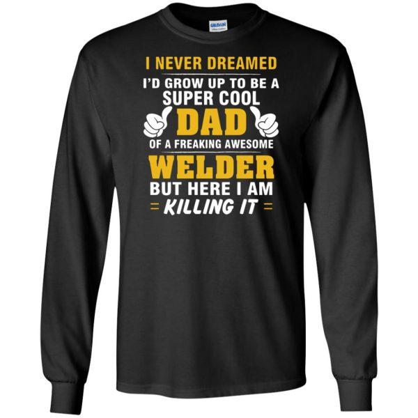 Welder Dad long sleeve - black