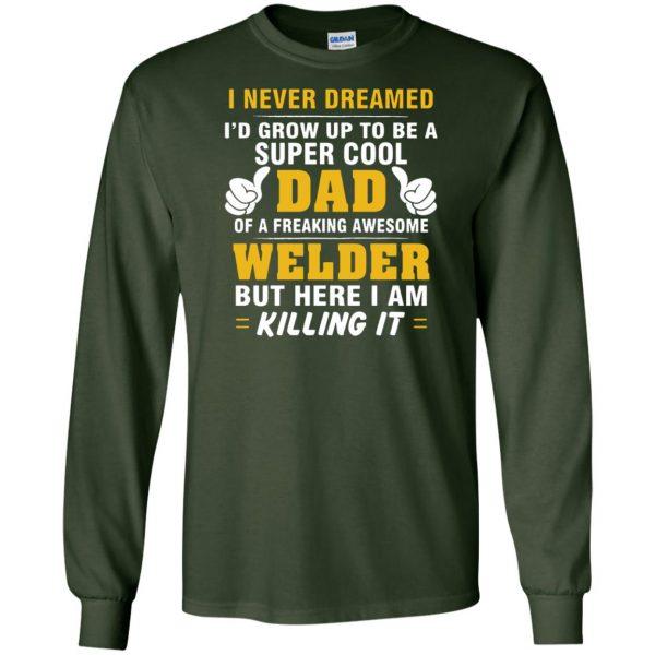 Welder Dad long sleeve - forest green