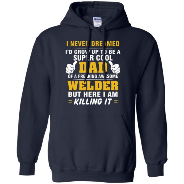 Welder Dad hoodie - navy blue