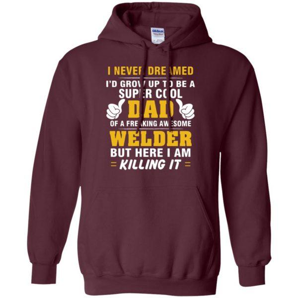 Welder Dad hoodie - maroon