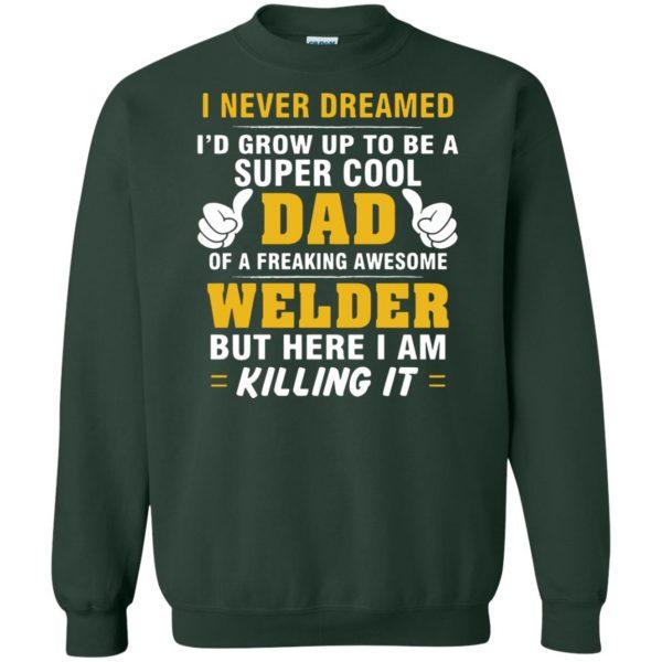 Welder Dad sweatshirt - forest green