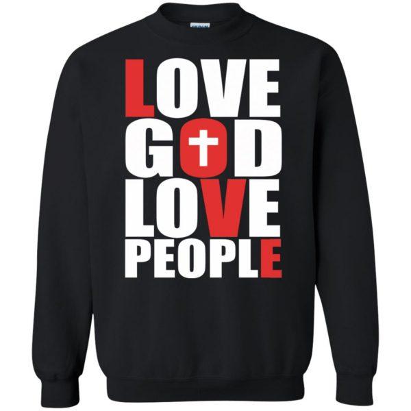 love god love people sweatshirt - black
