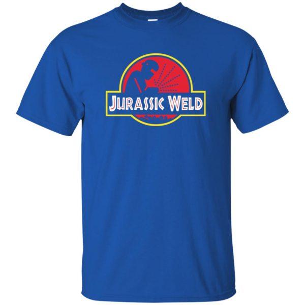 Jurassic Weld t shirt - royal blue