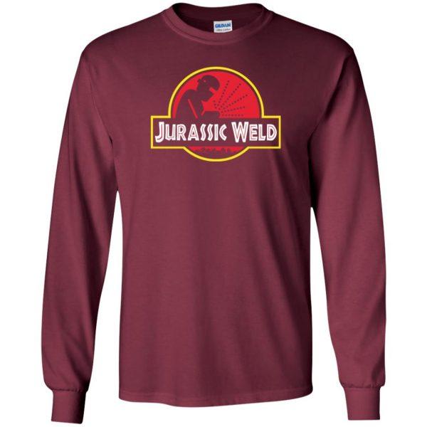 Jurassic Weld long sleeve - maroon