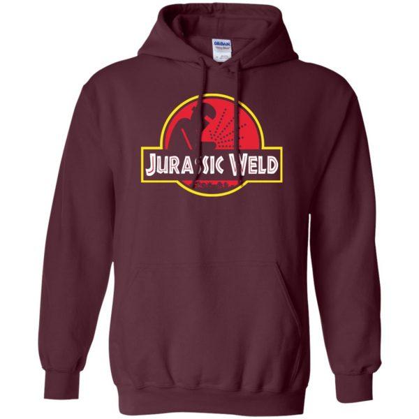 Jurassic Weld hoodie - maroon