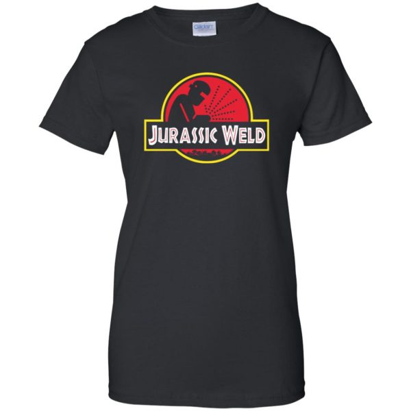 Jurassic Weld womens t shirt - lady t shirt - black