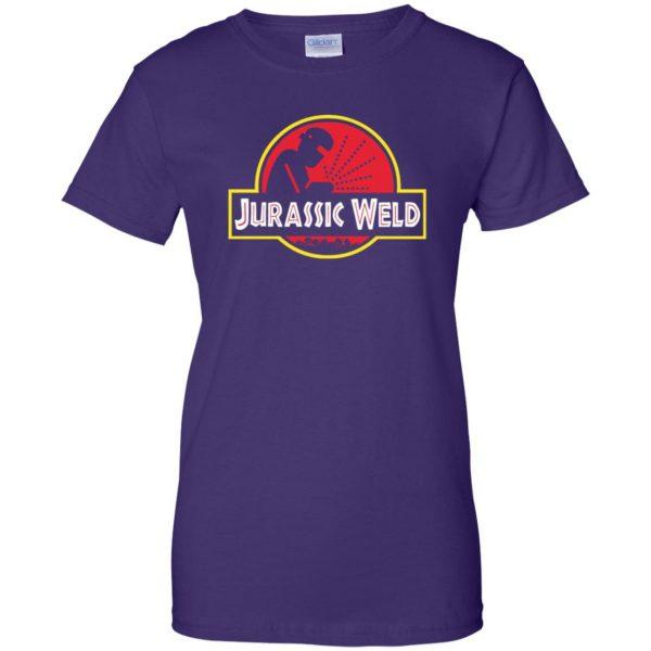 Jurassic Weld womens t shirt - lady t shirt - purple