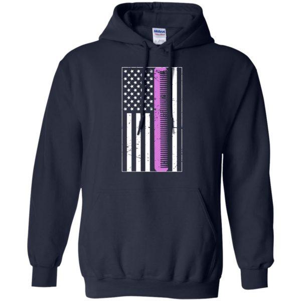 Retro Distressed Hair Stylist American Flag hoodie - navy blue