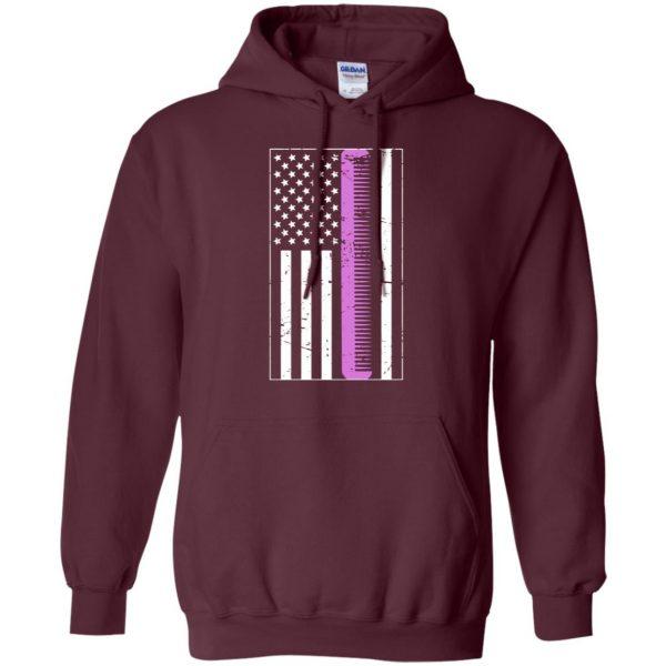 Retro Distressed Hair Stylist American Flag hoodie - maroon