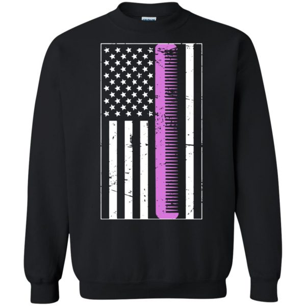 Retro Distressed Hair Stylist American Flag sweatshirt - black