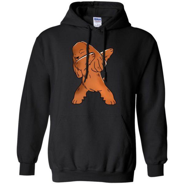 cocker spaniel hoodie - black