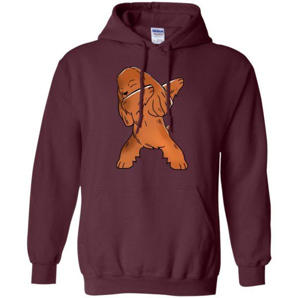 cocker spaniel hoodie - maroon