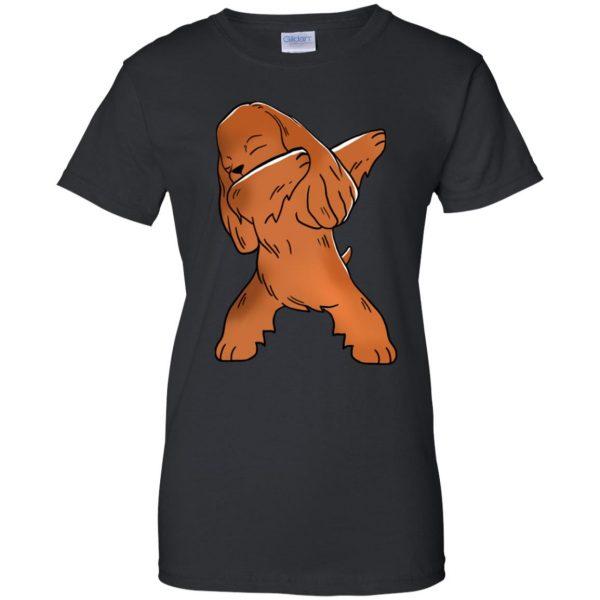 cocker spaniel womens t shirt - lady t shirt - black