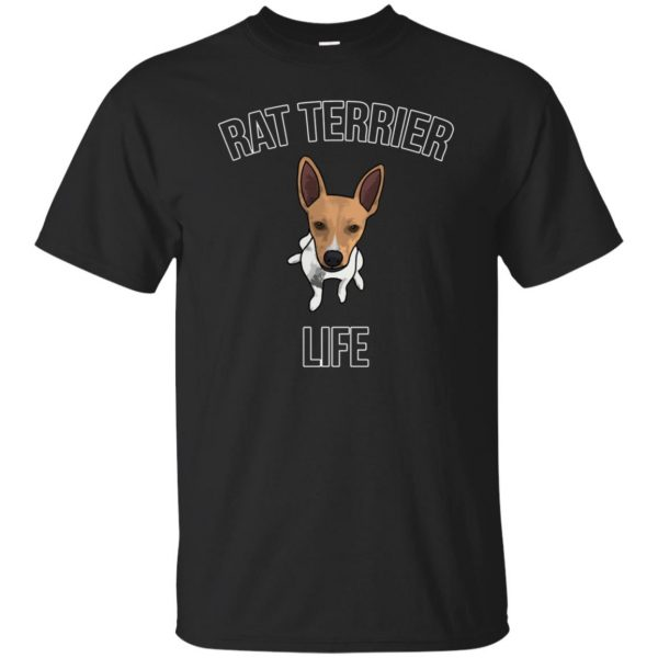 rat terrier t shirts - black