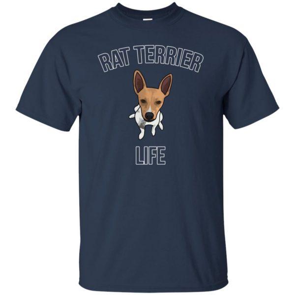 rat terrier t shirt - navy blue