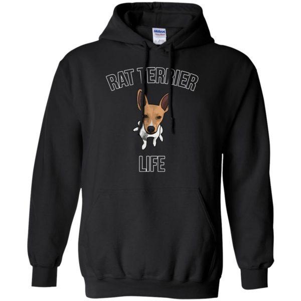 rat terrier hoodie - black