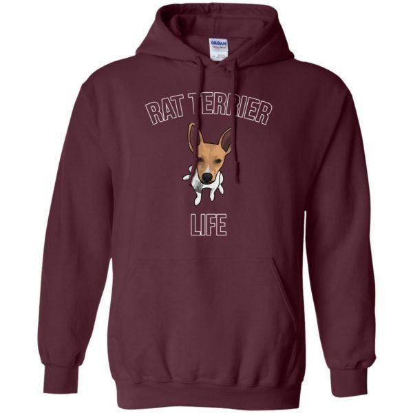 rat terrier hoodie - maroon