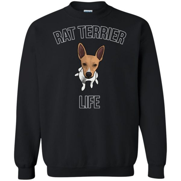 rat terrier sweatshirt - black