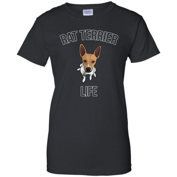 rat terrier womens t shirt - lady t shirt - black
