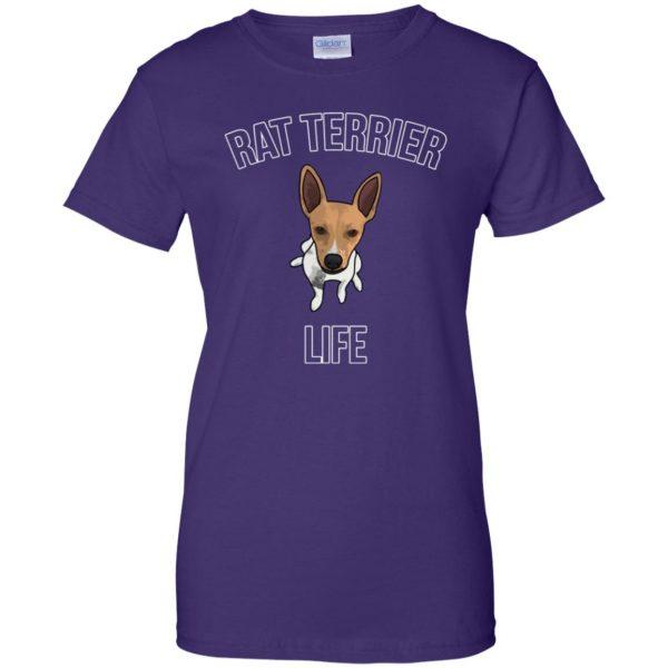 rat terrier womens t shirt - lady t shirt - purple