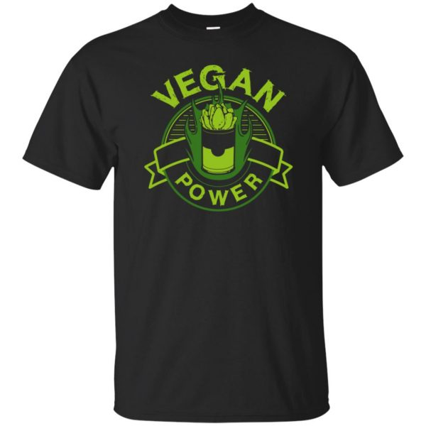 vegan power shirt - black