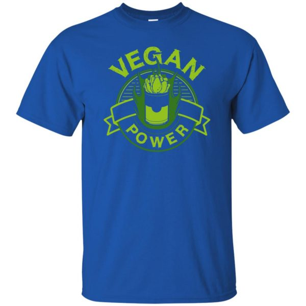 vegan power t shirt - royal blue