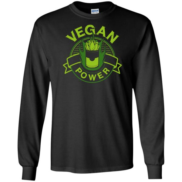 vegan power long sleeve - black