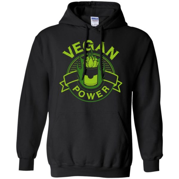 vegan power hoodie - black