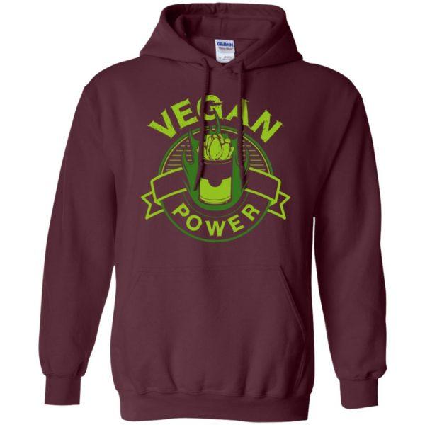 vegan power hoodie - maroon