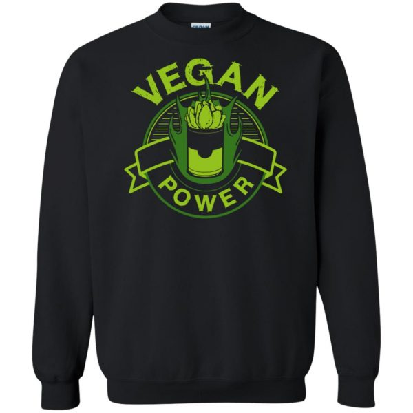 vegan power sweatshirt - black