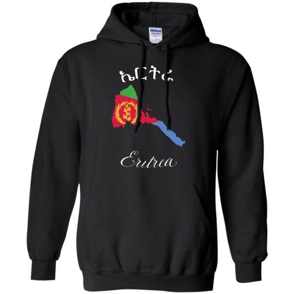 eritrean hoodie - black