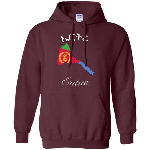 eritrean hoodie - maroon