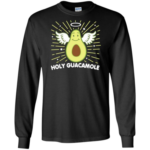holy guacamole sweatshirt long sleeve - black