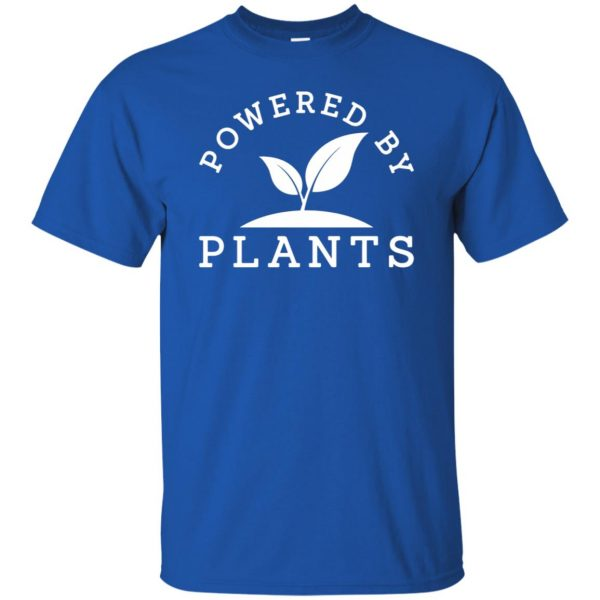 powered by plants tank top t shirt - royal blue
